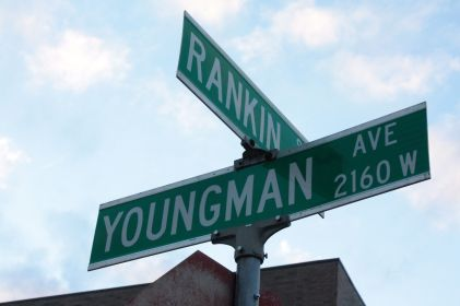 Youngman Avenue is the north frontage road for Shepard Road.