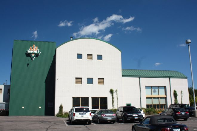 Summit Brewing's main building which can emit another great smell.