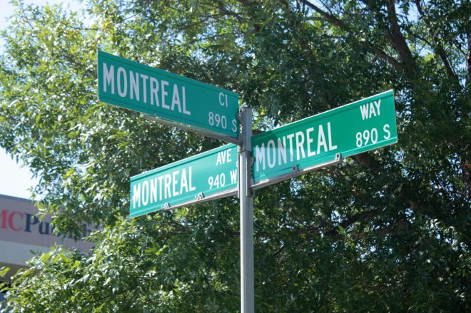 Yes, all the streets in the Crosby Lake development are named Montreal but to confusing matters more, two different streets have the same address number.