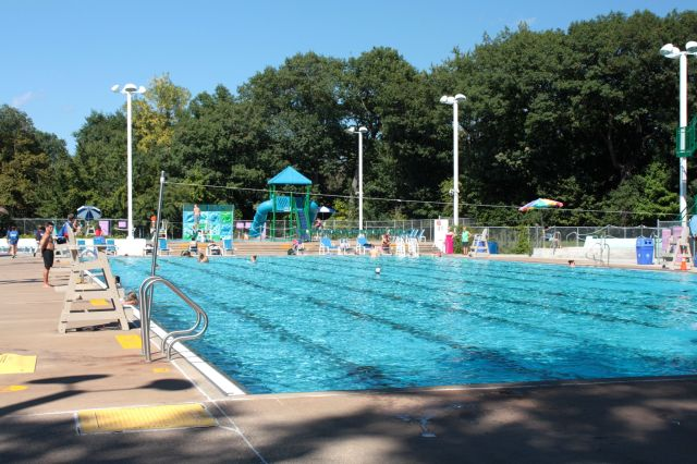 Although not very busy, a few folks are stretching the swimming season out as far as possible.