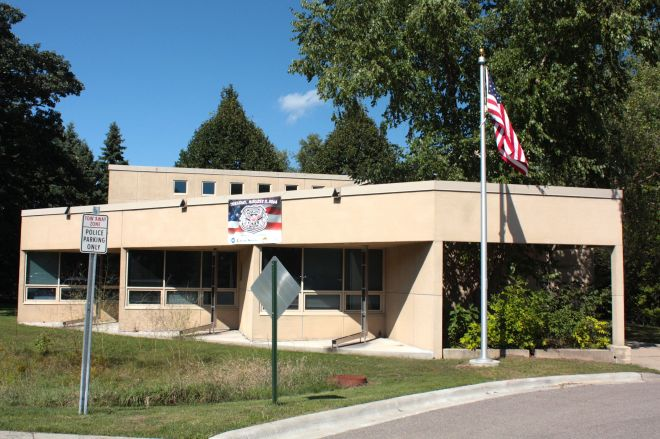 The police department's western district headquarters on Otto Hummer Drive.