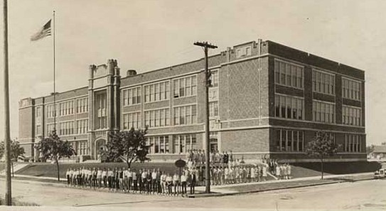 Woodrow Wilson School about two years after its 1924 opening.