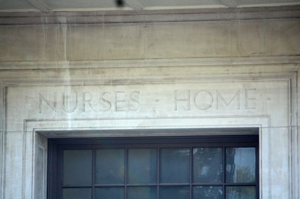 The one reminder I found of the Mary Hall's original use is above the main entrance.