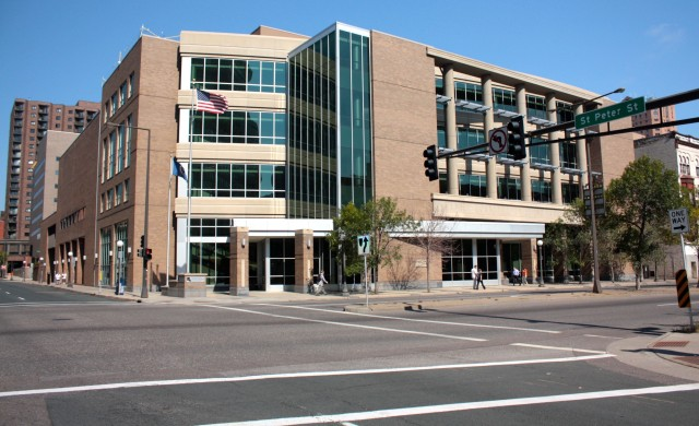 The Ramsey county Juvenile Detention Center replaced the Greyhound Bus depot on the northeast corner of St. Peter and West 7th street (aka Old 9th Street.)