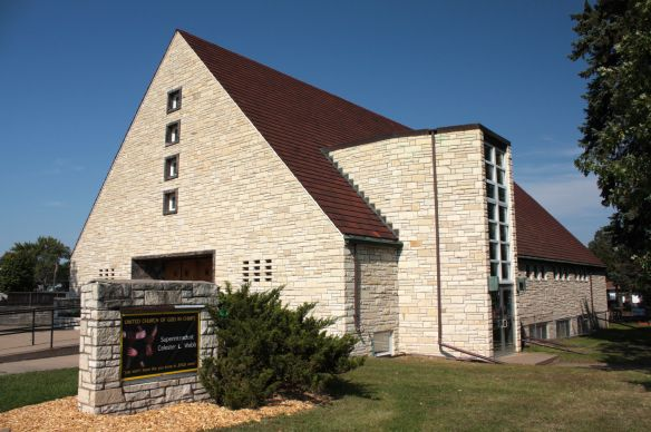 The stone United Church of God in Christ is also on Lafond, at Lexington.