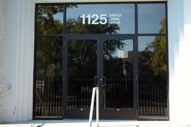 Confusingly, this entrance faces Lexington Parkway, despite the Energy Park address .