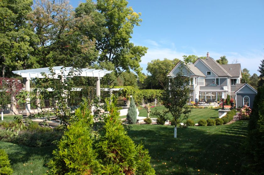 The wonderful back yard of the Karl Wessel Home, 1285 West Como Boulevard.