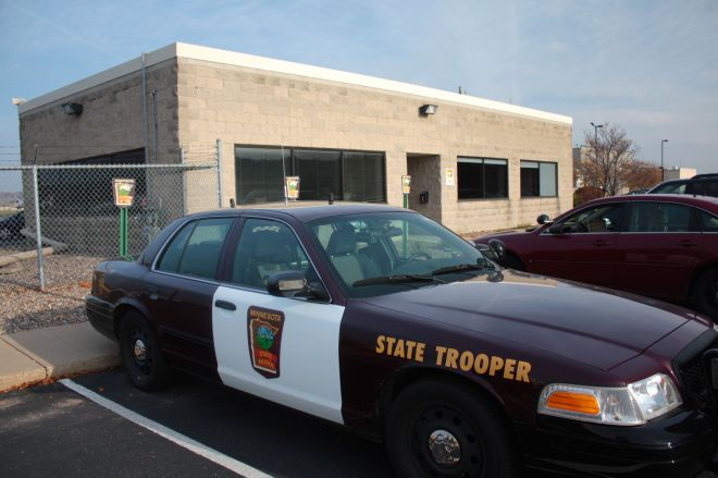 The humble State Patrol headquarters at Holman Field.