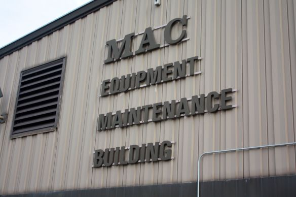 MAC vehicles used at Holman Field are repaired here.