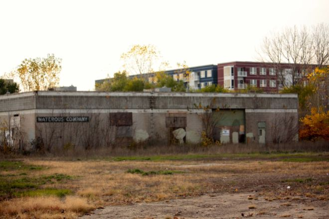 The last of the old Waterous Company's Saint Paul plant goes almost unnoticed on a six square chunk of land on the West End Flats. The property is bounded on the north by Fillmore Avenue, Livingston Street to the east, Plato Boulevard on the south and to the west by railroad tracks.