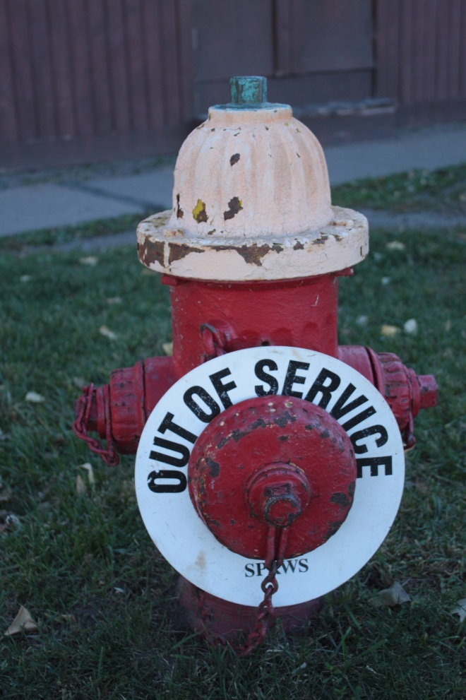 An obviously non-functioning hydrant.