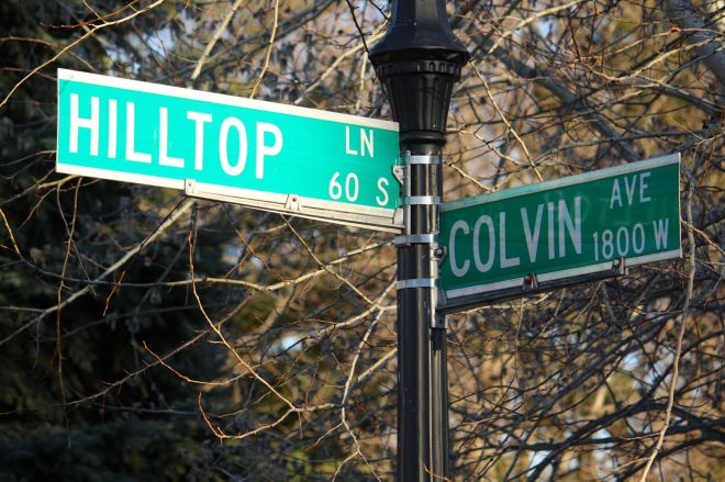 Hilltop is a block long street that intersects Colvin on the south and Edgcumbe to the north. The name is a tipoff about the topography of the area.