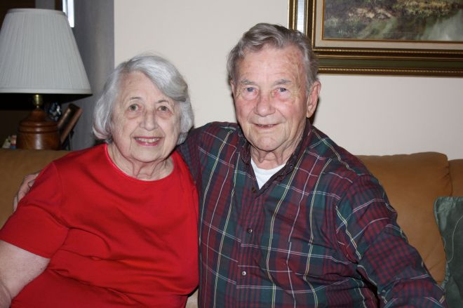 Shirley and Frank Windisch in their home at 1795 Sunny Slope Lane.
