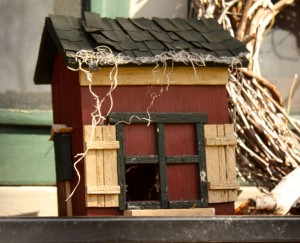 It's a barn bird house.