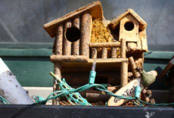 Here's a duplex bird house.