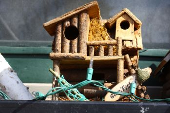 Here's a duplex bird house.