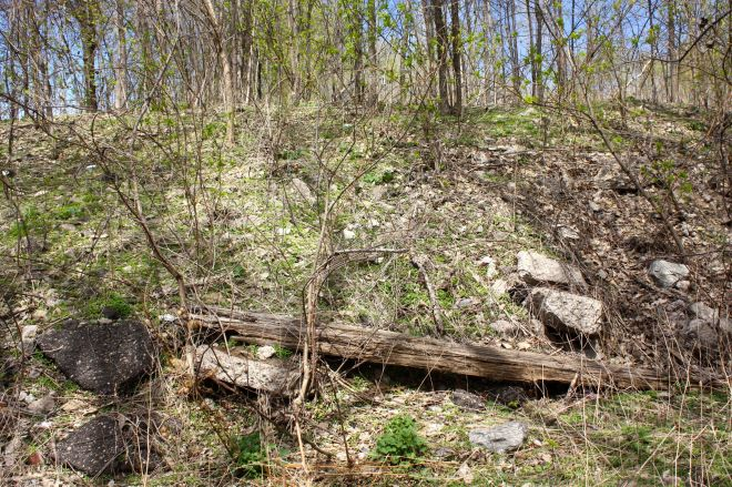 Try as I might, I couldn't determine if any of the debris laying about the hills are pieces of The Hollow's past.