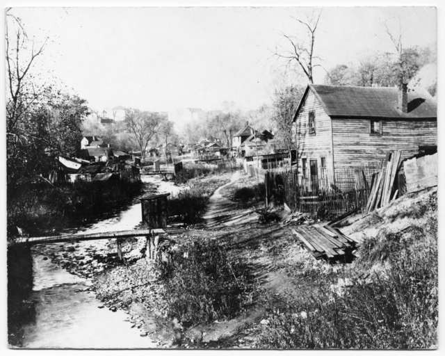 It's important to note that most of the outhouses hung over Phalen Creek, which for all intents, turned it into a sewer.