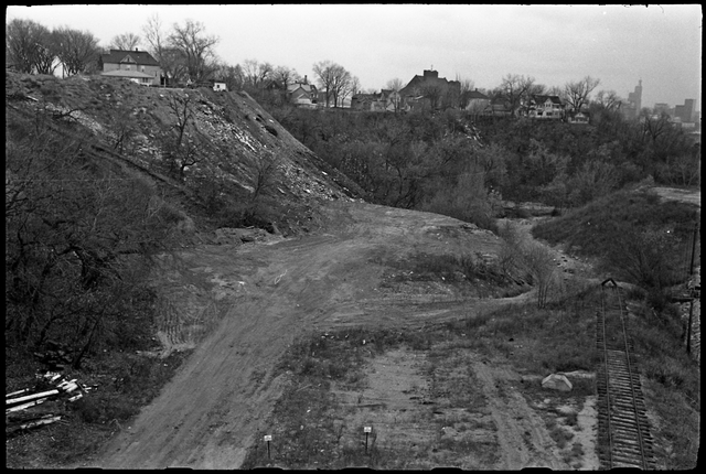 By 1969, The Hollow had become a dumping ground for the City and others. Courtesy Minnesota Historical Society.