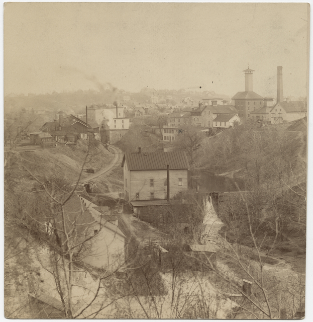 Swede Hollow in 1885. Courtesy Minnesota Historical Society.