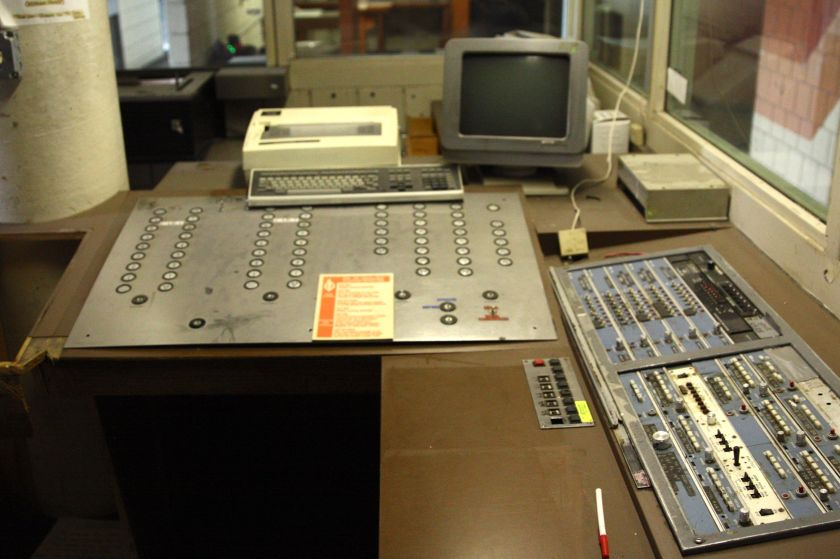 The original design called for a computerized system for 'Buttons', but technology hadn't caught up to aspirations.