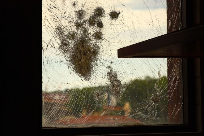 Perhaps, the window was never replaced after the early 2000s escape attempt to remind 'guests' how difficult is was to leave on their own.