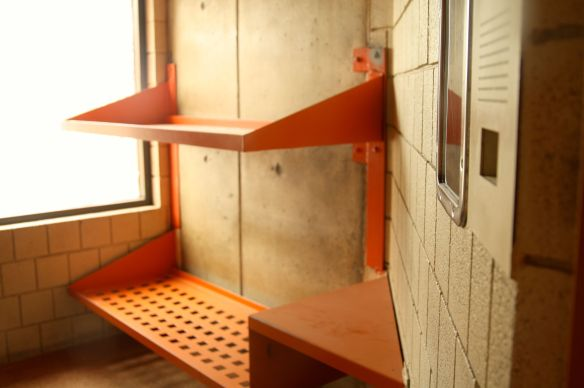 You might notice the two bunks are different. The plan for the ADC was to house one inmate per cell. However, not long after it opened in 1979, the jail filled to capacity, necessitating adding a second bunk to cells.