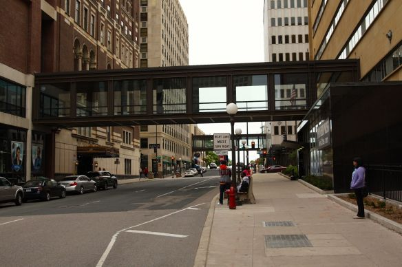 Two skyways over Cedar Street. Nearly all the skyways in Saint Paul are identical to these two.