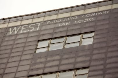 Although West Publishing moved to Eagan in 1991, one of the company's signs remains nearly 25 years later. Only when the building comes down will the sign do so.