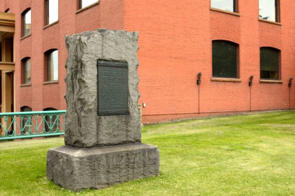 Created long before the Cultural Garden, a memorial marker honoring the first Swede to settle in Minnesota...
