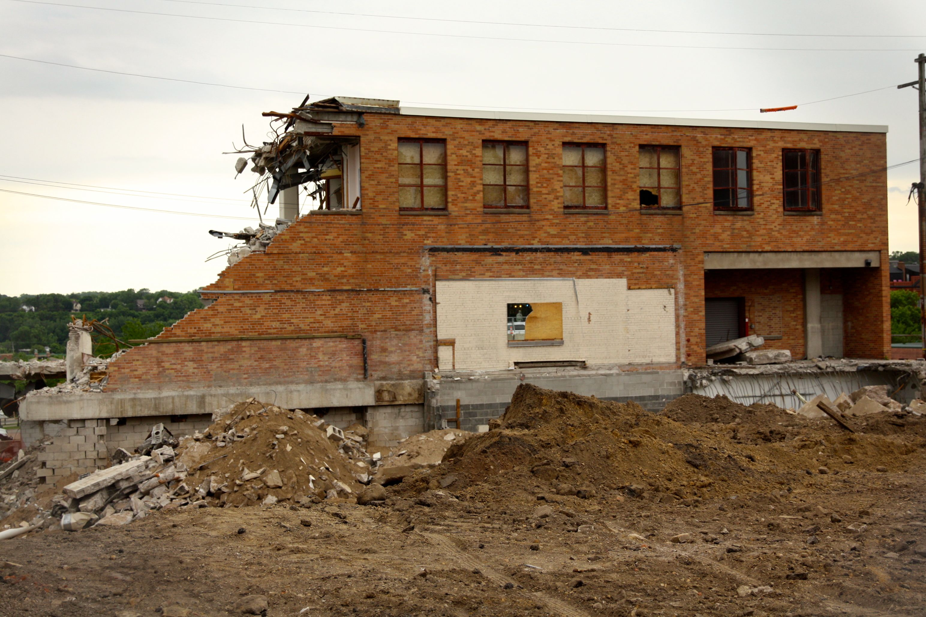 A portion of one building is all that remained of the iconic hardware store.