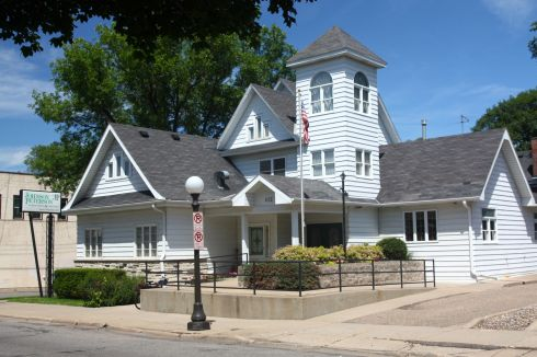 This unusual building is the Johnson Peterson Funeral and Cremation, 612 Smith Avenue South. Construction of the original two story structure was completed in 1906.