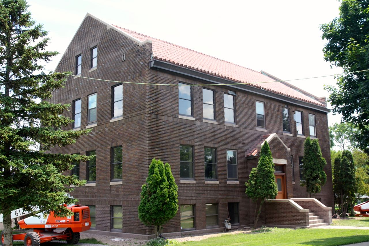 The main entrance to the former headquarters of Koppers Coke is at 1000 Hamline Avenue.
