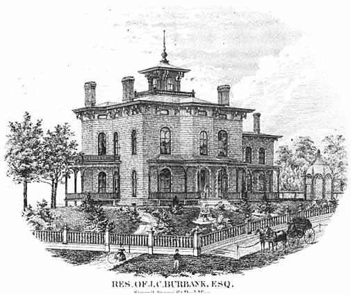 JC Burbank house c 1867