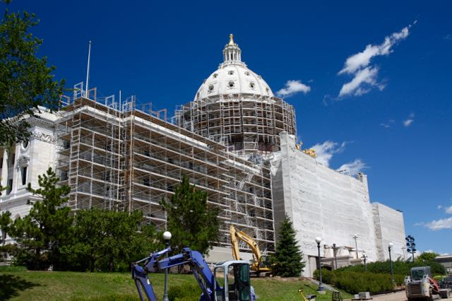 The renovation of our beautiful Capitol building began in fall of 2013 and is scheduled for completion in 2017.