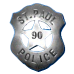 In 1890, the badge underwent a major redesign, with a five pointed star surrounded by a shield. Policemen wore this badge until 1940, according to the Saint Paul Police Historical Society website.