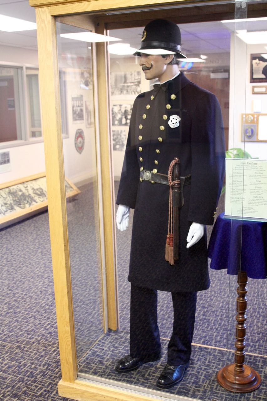 "The British-influenced ""Bobby style"" uniform was introduced in Saint Paul in 1891, replacing the department's 1872 design."