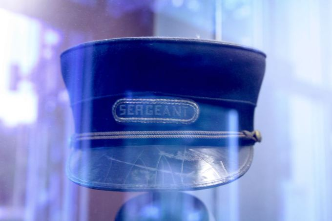 Sergeant Hans Aamold's hat.