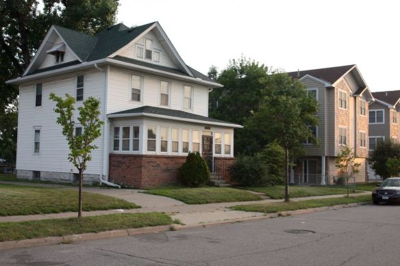 Nearby on Concordia Avenue, new construction and a single family home from the early 1900s, sit side by side.