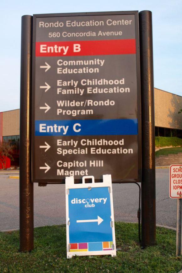 The main sign along Concordia Avenue.