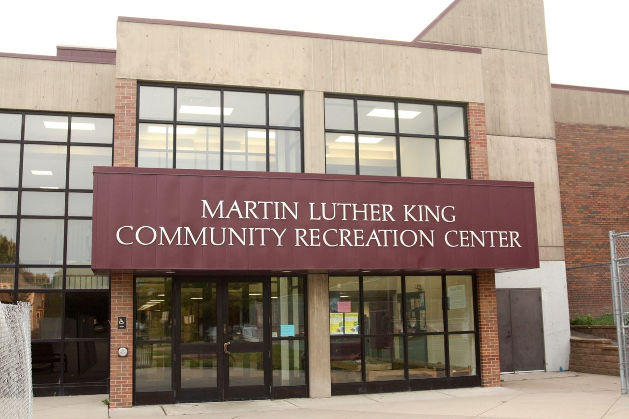 The main entrance of the MLK along Mackubin Street