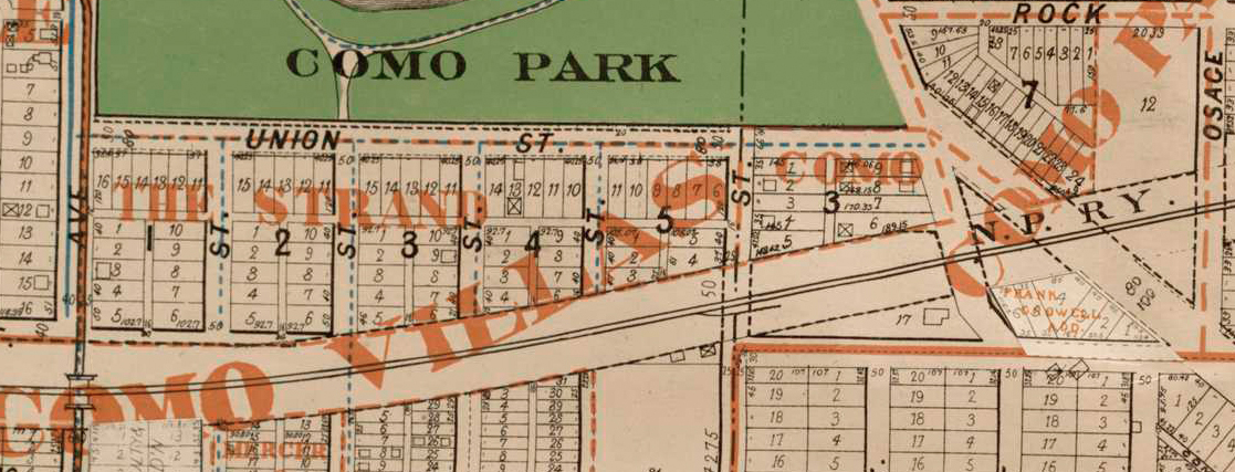 south of Lake Como on which I rode. Map courtesy of H. M. Smyth and U of M John R. Borchert Library.
