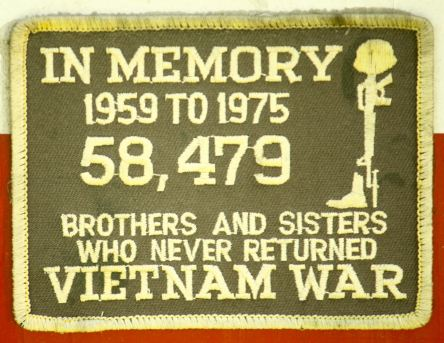 One of the many patches displayed at 2040 Selby that honor US service people.