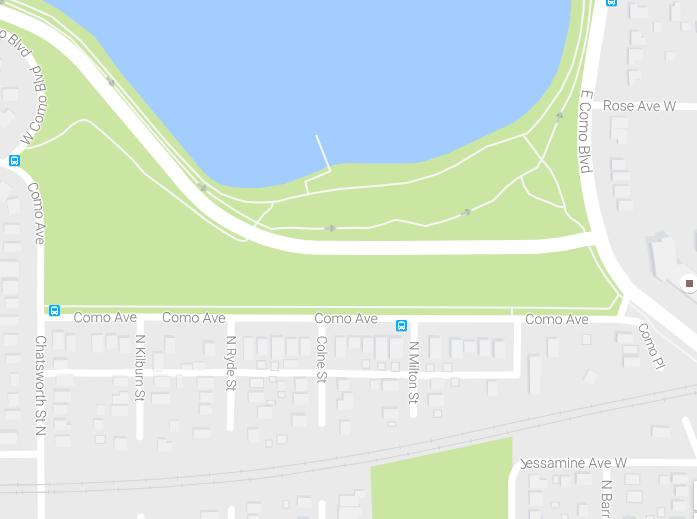 South Como neighborhood map