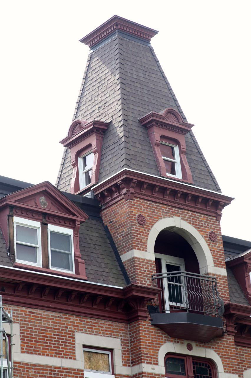The center tower and part of the third floor of the Hazelden building.