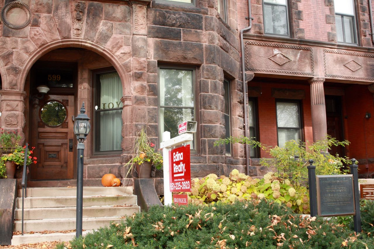 599 Summit, one of the eight homes in the F. Scott Fitzgerald Terrace, is significantly better known than 593 as a Fitzgerald home. There is a National Historic plaque in front.