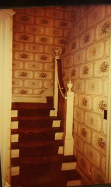 The main staircase before Dick began tearing it apart. Photo courtesy of Dick Tollefson.