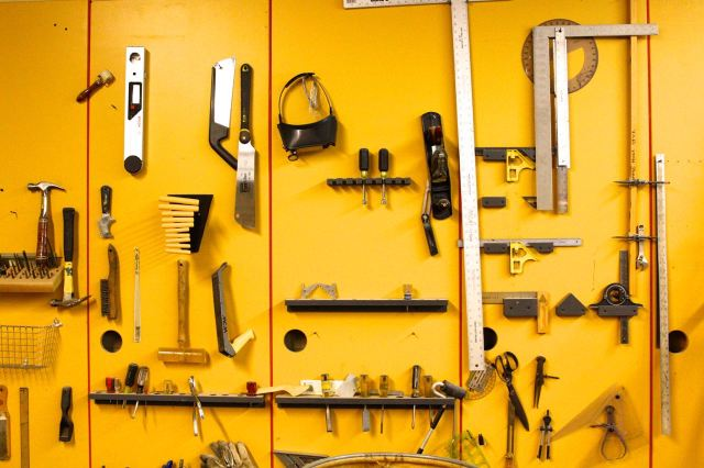 and hand tools of many shapes and sizes.