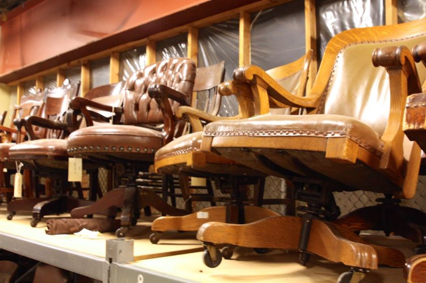 Some of the Cass Gilbert-designed chairs from the Capitol.