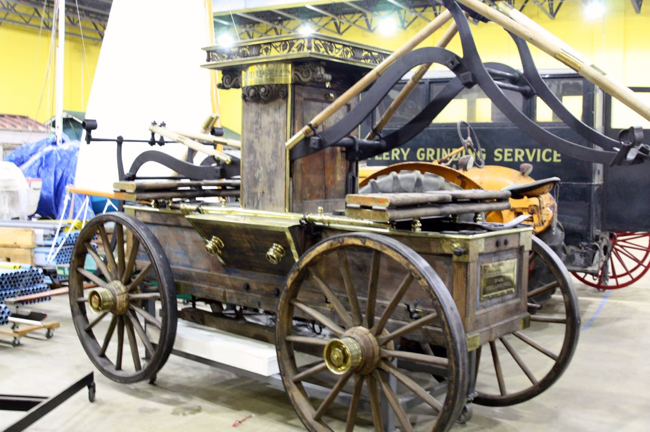 MHS was given this very early pumper by Waterous Company of Saint Paul. It is one of eight pumpers once displayed in its showroom.